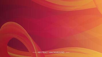 Orange-pink background with smooth lines vector