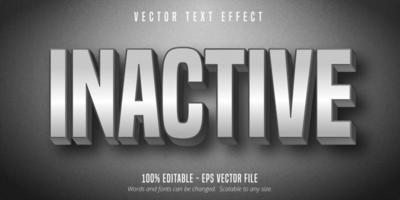 Inactive gradient grey color text effect