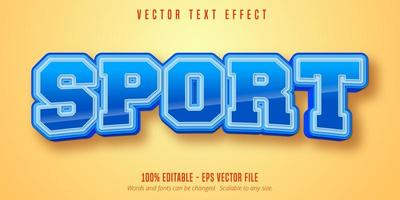 Sport style glossy text effect