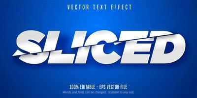 Sliced white text effect vector