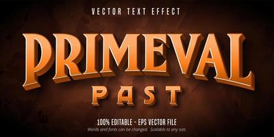 Primeval past primitive style editable text effect vector