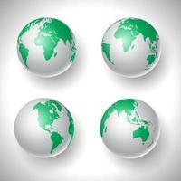 colección mundial de globos vector