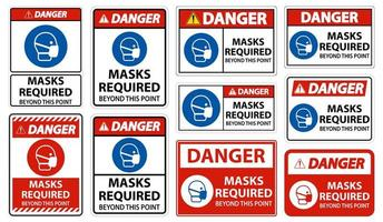 maschere di pericolo richieste oltre questo set di punti