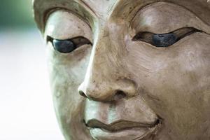 buddha face by wax