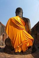Behind of Buddha photo