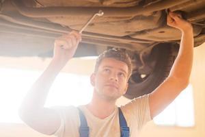 Repairing car. photo