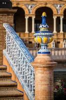 Detalle de un puente en la plaza de España, Sevilla. España.