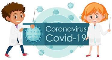Doctors and virus cells vector