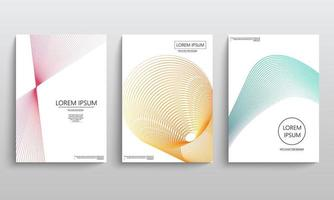 Geometric elements for brochures