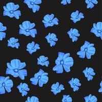 padrão sem emenda de flor azul vetor