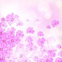 Pink Flowers Falling Background vector