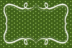 Polka dot on green background vector