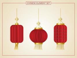 elemento de linterna china vector