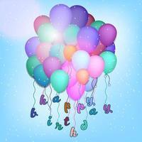 voeux de joyeux anniversaire avec des ballons