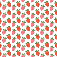 Retro strawberry seamless pattern vector