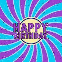 ''Happy Birthday'' Swirl Confetti Background vector