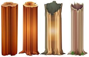 Growing tree stumps vector