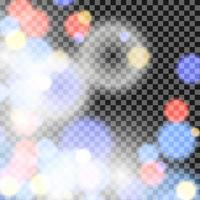 Red, Blue, White Bokeh Background vector