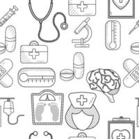 Seamless Medical Outline Pattern