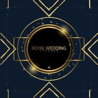 VIP Luxury Gold Royal Wedding Background vector