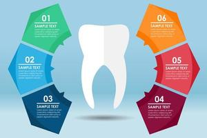 White tooth round infographic