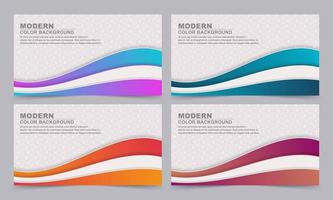 Banners with geometric textures and layered gradient waves