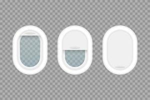 conjunto de ojo de buey de avión