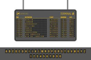 Departures airport info panel vector