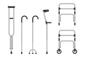 Set of mobility aids vector