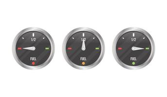 conjunto medidor de combustível vetor