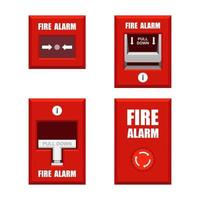 Set of fire alarms vector
