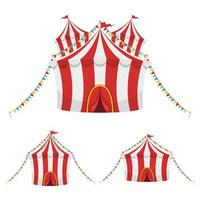Circus tent vector design illustration isolated on white background