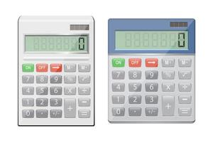 Realistic calculator isolated on white background vector