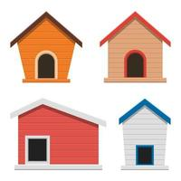 Dog house isolated on white background vector