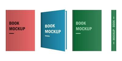 Color book mockup isolated on white background
