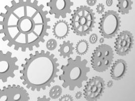 Technology background with gears and line pattern vector