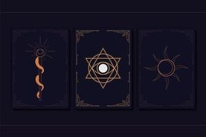 conjunto de símbolos místicos geométricos vetor