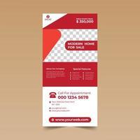 plantilla de diseño de tarjeta roja y blanca vector