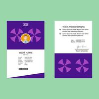 Purple Round Star ID Card Template vector