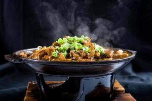 steaming chinese food