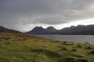 Loch Bad a Gail with dramatic sky