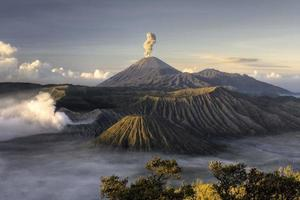 Bromo volcano after eruption photo
