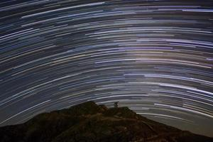 Star trails and the Observatory photo