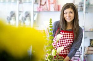 teenage shop assistant photo