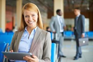 Pretty businesswoman photo