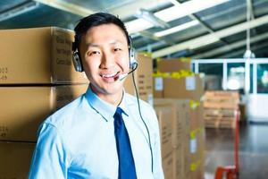 Customer Service in a warehouse