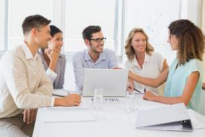 Casual business team having a meeting photo