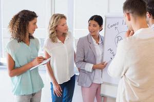 empresaria informal dando una presentación foto