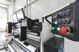 maquinaria de prensa foto