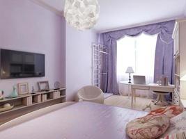 Functional bedroom in art nouveau design photo